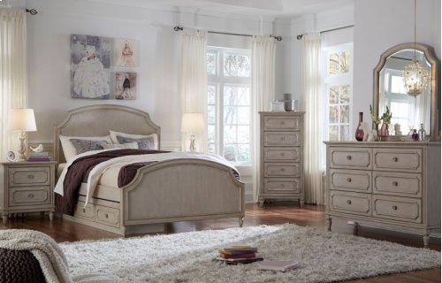 Emma Complete Arched Panel Bed, Full 4/6