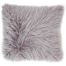 """Faux Fur Bj101 Lavender 17"""" X 17"""" Throw Pillows"""