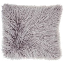 "Faux Fur Bj101 Lavender 17"" X 17"" Throw Pillows"