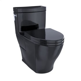 Aimes® One-Piece Toilet, 1.28GPF, Elongated Bowl - Washlet®+ Connection - Ebony
