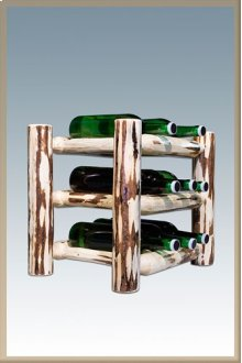 Montana Log Countertop Wine Rack