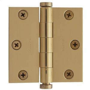 Lifetime Polished Brass Square Corner Hinge Product Image