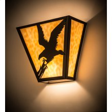 """13""""W Strike of the Eagle Wall Sconce"""