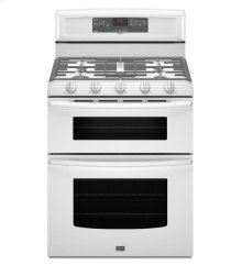 6.0 cu. ft. Capacity Double Oven Gas Range with Speed Heat Burner