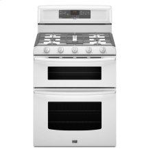 6.0 cu. ft. Capacity Double Oven Gas Range with Speed Heat Burner- IN STORE ONLY (FLOOR MODEL)