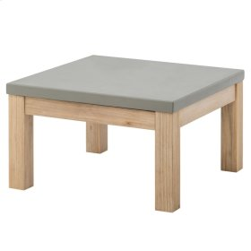 Boston End Table with Concrete Top, Brushed Smoke