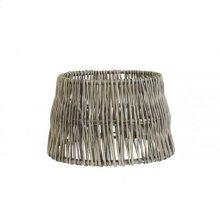 Shade round straight 25-20-16 cm ROTAN vertical weaving grey
