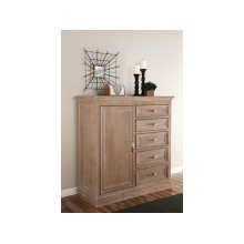 5-Drawer / 1-Door Chest in Taupe Gray
