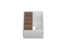 """Fira 091519 - undermount with apron front fireclay Bar sink with accessory ledge , 13 1/4"""" × 15 3/4"""" × 7"""""""