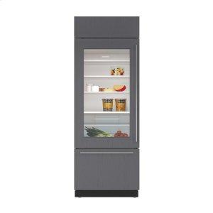 "Subzero30"" Built-In Over-and-Under Glass Door Refrigerator/Freezer - Panel Ready"