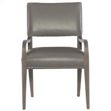 Moore Leather Arm Chair in Portobello