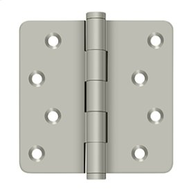 "4""x 4""x 1/4"" Radius Hinges / Zig-Zag - Brushed Nickel"