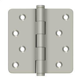 """4""""x 4""""x 1/4"""" Radius Hinges / Zig-Zag - Brushed Nickel"""