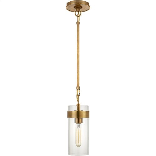 Visual Comfort S5672HAB-CG Ian K. Fowler Presidio 1 Light 4 inch Hand-Rubbed Antique Brass Pendant Ceiling Light, Petite