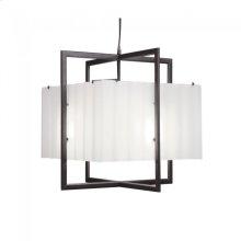 Cube Chandelier - Corrugated Box - C400CB White Bronze Brushed