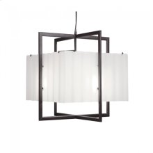 Cube Chandelier - Corrugated Box - C400CB Silicon Bronze Brushed