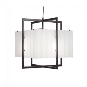 Cube Chandelier - Corrugated Box - C400CB Silicon Bronze Brushed Product Image