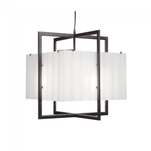 Cube Chandelier - Corrugated Box - C400CB Silicon Bronze Brushed Product Image