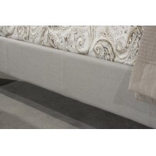 Kaylie Upholstered Side Rail - Queen - Dove Gray
