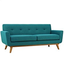 Engage Upholstered Fabric Loveseat in Teal