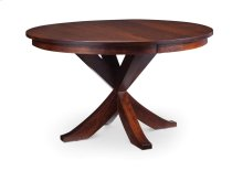 "Parkdale Single Pedestal Table, 48"", Parkdale Single Pedestal Table, 48"", 1-18"" Butterfly Leaf"