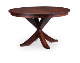 "Parkdale Single Pedestal Table, 48"", Parkdale Single Pedestal Table, 60"", 1-18""Butterfly Leaf"