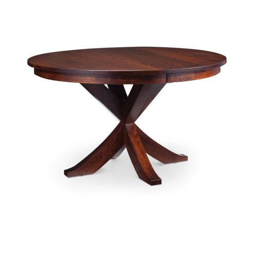 "Parkdale Single Pedestal Table, 48"", Parkdale Single Pedestal Table, 60"", 1-18""Butterfly Leaf"