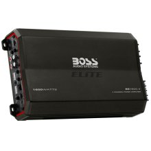 "Elite 1600W 4 Channel Full Range, Class A/B Amplifier Dimensions 11.9""L 7""W 2.25""H"