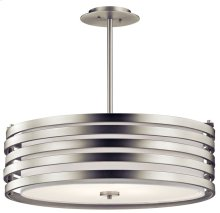 Roswell 4 Light Pendant Brushed Nickel