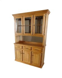 "60"" Hutch/buffet W/3 Half Doors"