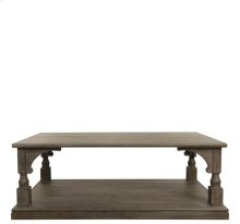 Juniper Rectangular Caster Coffee Table Charcoal finish