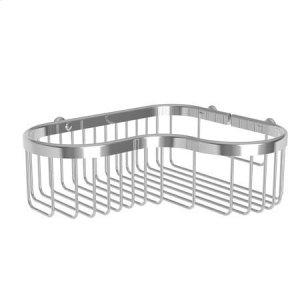 Polished Nickel Large Corner Basket