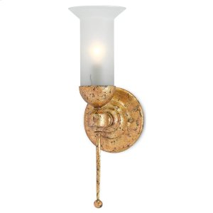 Pristine Gold Wall Sconce