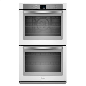 Gold(R) 10 cu. ft. Double Wall Oven with True Convection Cooking - WHITE ICE