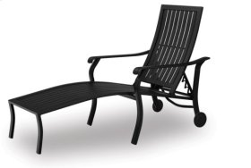 Coordinate Aluminum Arm Chaise w/ Wheels