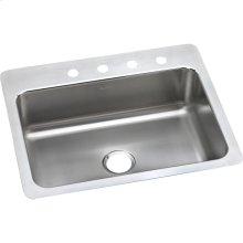 "Elkay Lustertone Classic Stainless Steel 27"" x 22"" x 8"", Single Bowl Dual Mount Sink"