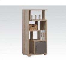 Light Oak Bookcase W/door