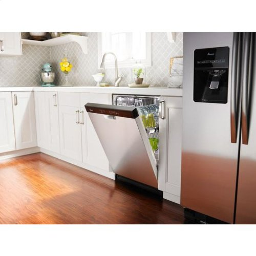 Dishwasher with Stainless Steel Interior - white