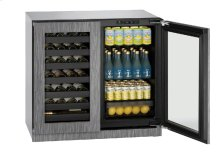 "Modular 3000 Series 36"" Beverage Center With Integrated Frame Finish and Double Doors Door Swing"