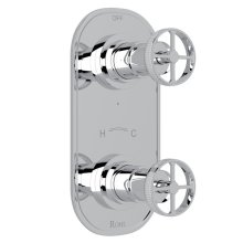 """Polished Chrome Campo 1/2"""" Thermostatic/Diverter Control Trim with Metal Campo Wheel"""