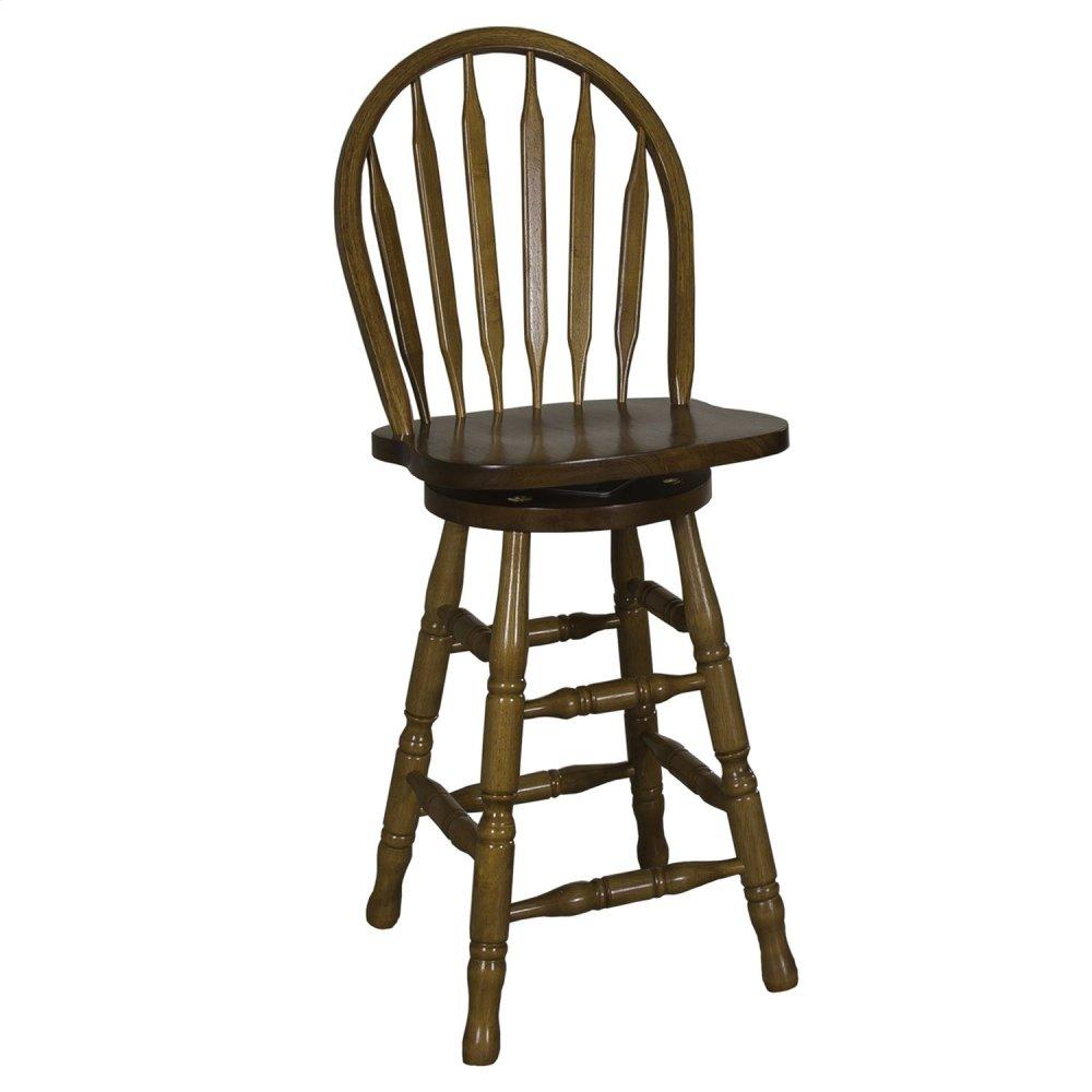 10b55324liberty Furniture Industries 24 Inch Arrow Back Barstool
