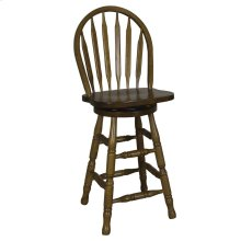 24 Inch Arrow Back Barstool