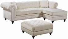 Sabrina Velvet Reversible 2pc. Sectional - 96''L x 67''D x 31''H