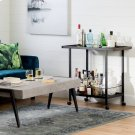Metal Bar Cart on Wheels - Black Product Image