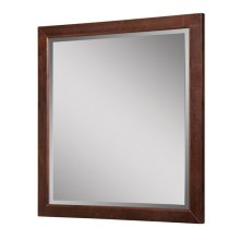 Adrianna Collection Wall Mirror - Dark Walnut