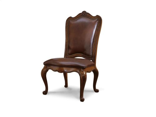 Leather Upholstered Back Side Chair