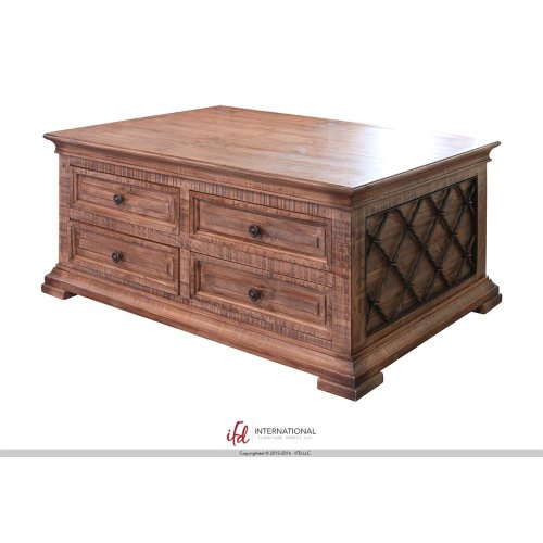 Cocktail Table w/8 drawers