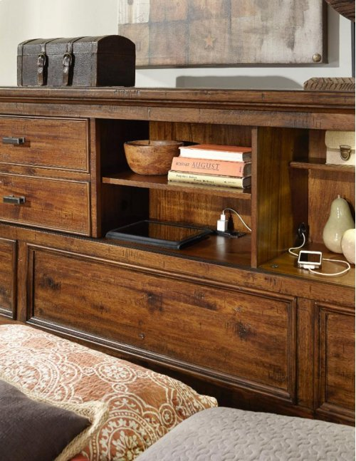 Cal King/King Bookcase Headboard
