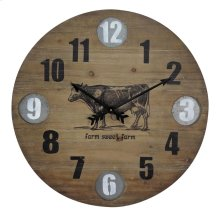 Farmhouse Wooden Wall Clock