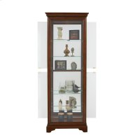 Mirrored 5 Shelf Gallery Curio Cabinet in Oak Brown Product Image